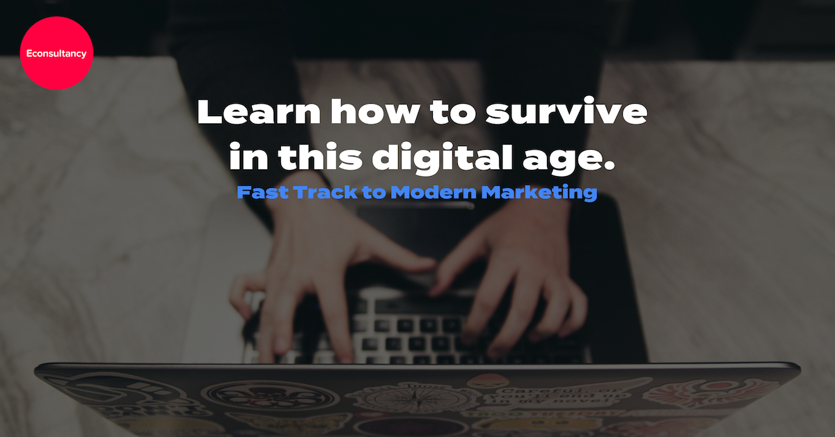 econsultancy LinkedIn ad - learn how to survive this digital age