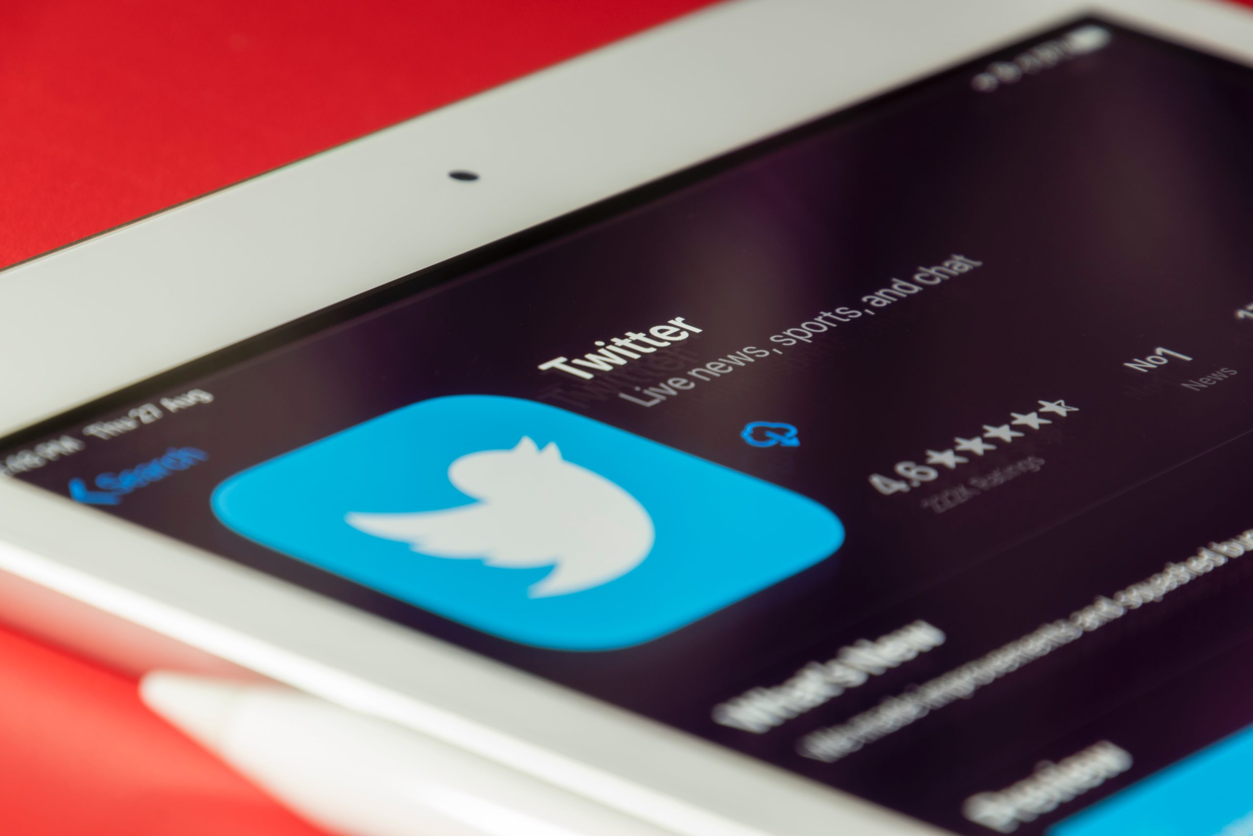 twitter app download screen