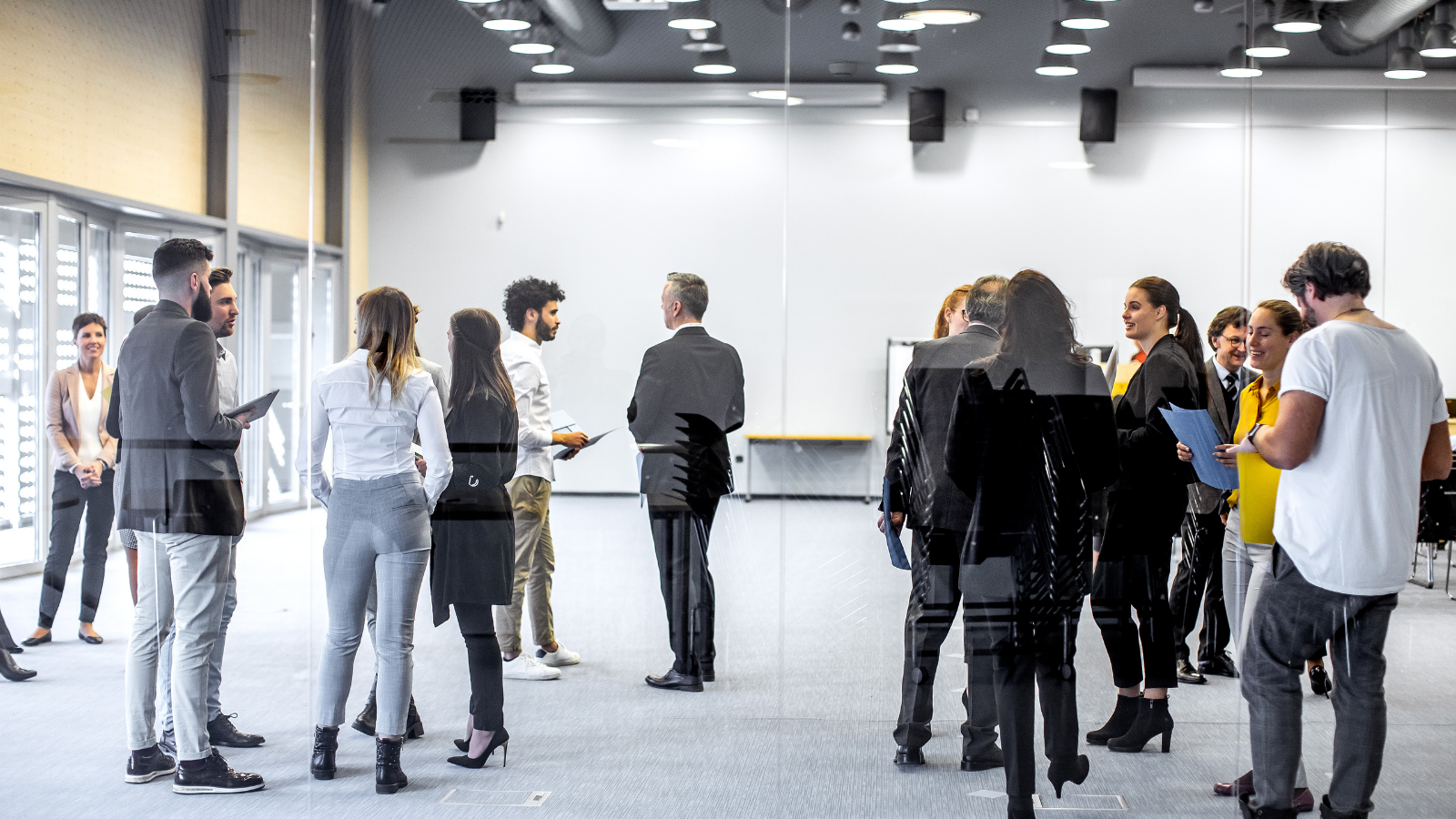 Group of people meeting in business attire